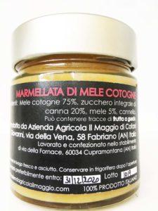 Marmellata di mele cotogne dell'Azienda Agricola Il Maggio di Fabriano nelle Marche