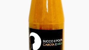Succo e polpa di carote e mela
