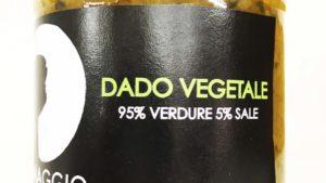 Dado vegetale 95% verdure e 5% di sale